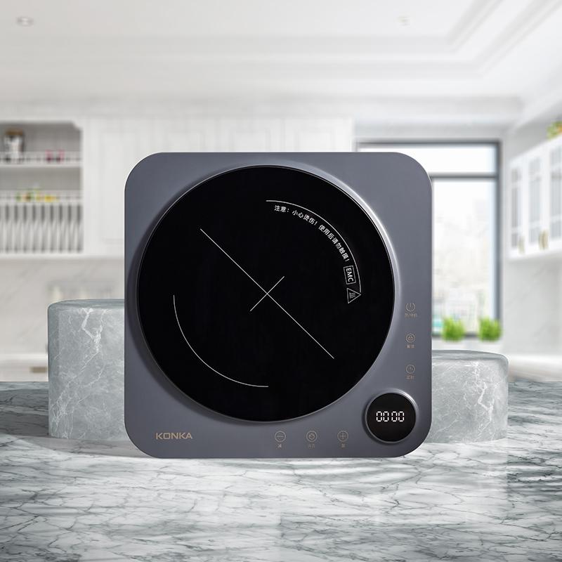 Konka индукционная плита 2100 Вт Высокая мощность 8-Скорость Регулируемая электрическая варочная панель одинарная Инфракрасная Плита