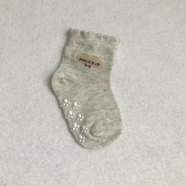Забавные милые детские носки для новорожденных девочек из органического хлопка с резиновой подошвой оптом
