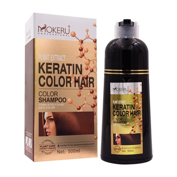2 in1 Argan Oil Hair Dye Shampoo 5colors Washable Personal Natural Herbal Color Black Hair Dye Shampoo with private logo