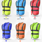 Vest Reflective Vest Safety Reflective Safety Hi Vis Vest With Various Pockets 2020 Hot Sales Traffic Safety Vest