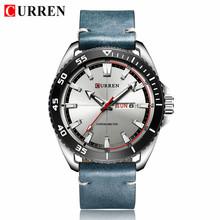 Мужские часы люксовый бренд CURREN Модные простые Бизнес наручные часы кожаный ремешок Календарь мужские военные часы Relogio Masculino(Китай)