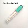 Sky blue+foot brush