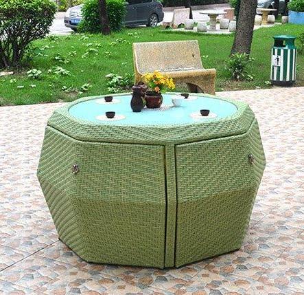 Сохранить место модные плетением и алюминиевым каркасом комплект Плетеная Сад Набор стульев садовая мебель