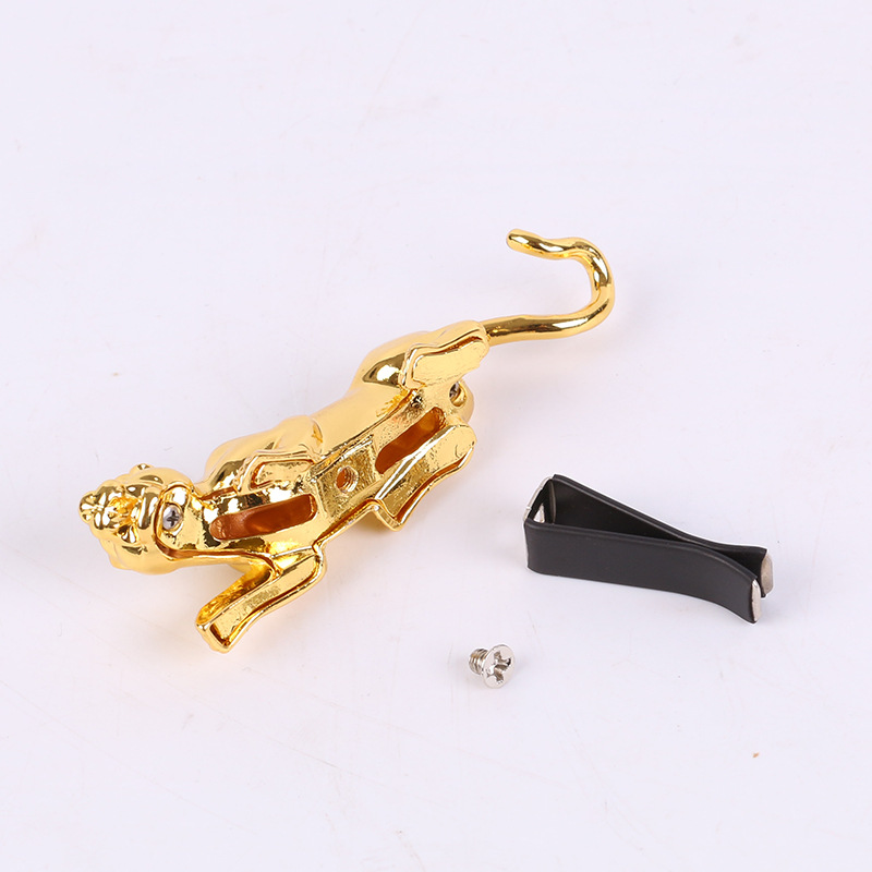 Alloy Leopard Statue Car Air Conditioning Air Outlet Decorative Clip Leopard For Car decoration