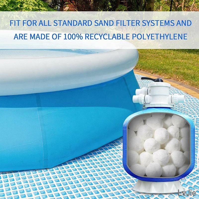 Polyesteball fiber filling fiber ball filter for swimming pool water treatment