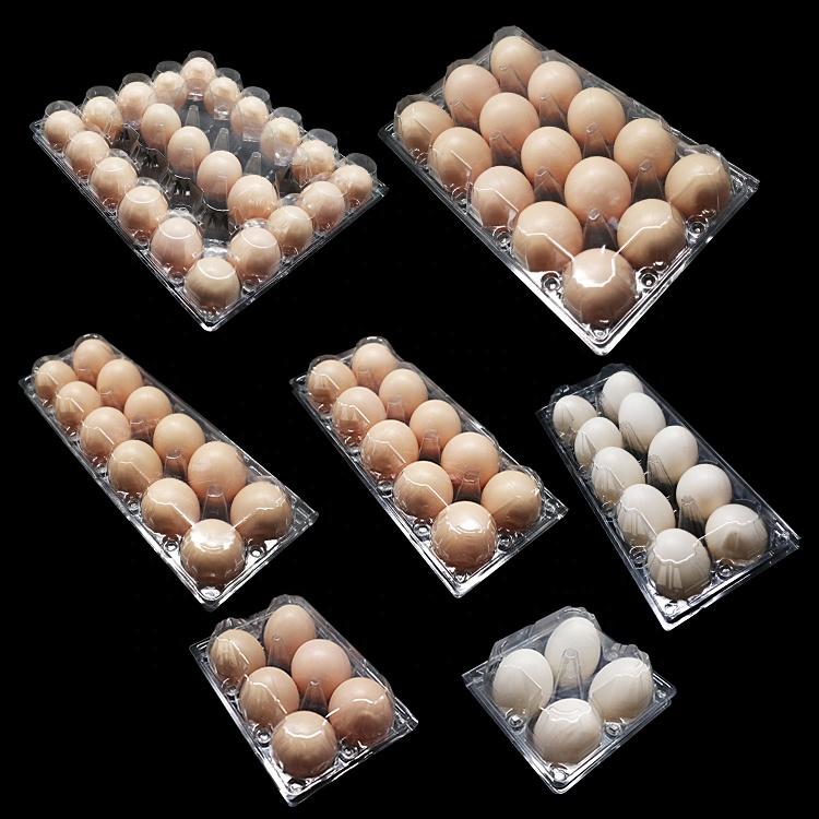 Перерабатываемый пластиковый лоток для упаковки куриных яиц с 4/6/12/15/16/20/30 отверстиями