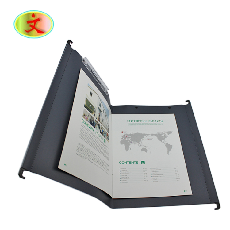 PP Plastic Letter Size Suspension Hanging File Folders with Plastic Clips