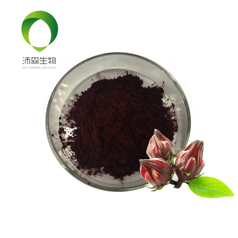 Betteringbio  manufacturer Roselle extract rich in Anthocyanins 10%UV