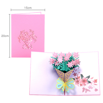 wholesale 3d greeting cards birthday 3d pop greeting cards diy 3d christmas post card