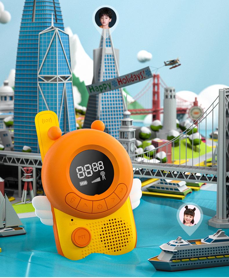 Più nuovo Walkie Talkie per I Bambini Radio Walkie Talkie con la Torcia Elettrica per 3-12 I Ragazzi e Le Ragazze al di Fuori Avventure, campeggio, Trekking
