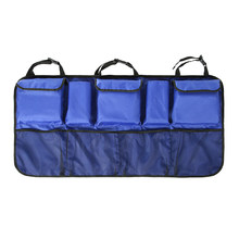 Автомобильная Задняя сумка для хранения на спинку сиденья с несколькими карманами, автомобильная сетка, сумка-Органайзер для багажника(Китай)