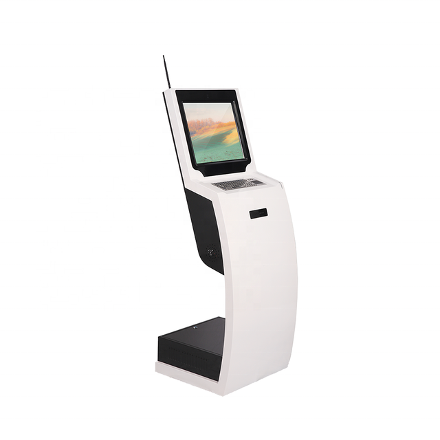Stand LCD Advertising Display Indoor IC Card-Reader Kiosk with Camera and Microphone