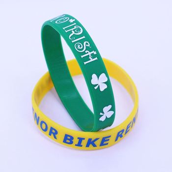 Military Tiny-Color Filled Rubber Bracelet Logo Motivation Cancer Research Silicone Wristband