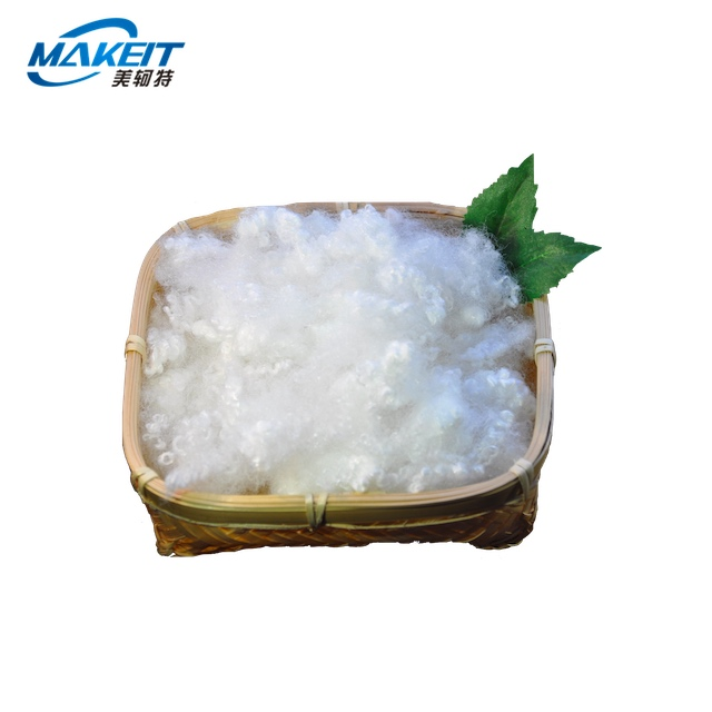 recycled Hollow conjugated silicon HCS polyester fiber 7D/15D * 64MM raw material for filling sofa/pillow
