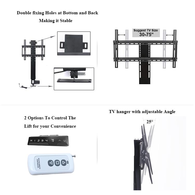 Современный элегантный дизайн Интеллектуальный Подъем вверх и вниз телевизионный Электрический подъемник мотор для телевизионного подъемника