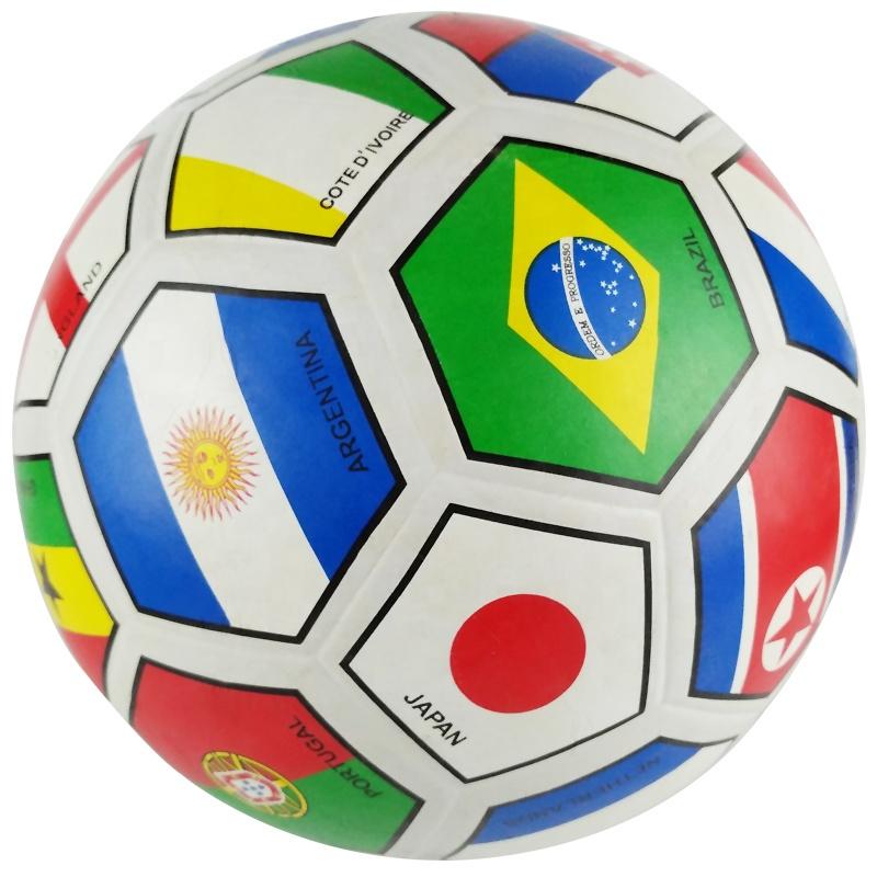 Мягкая резиновая футбольная игрушка для детей, Размер 5