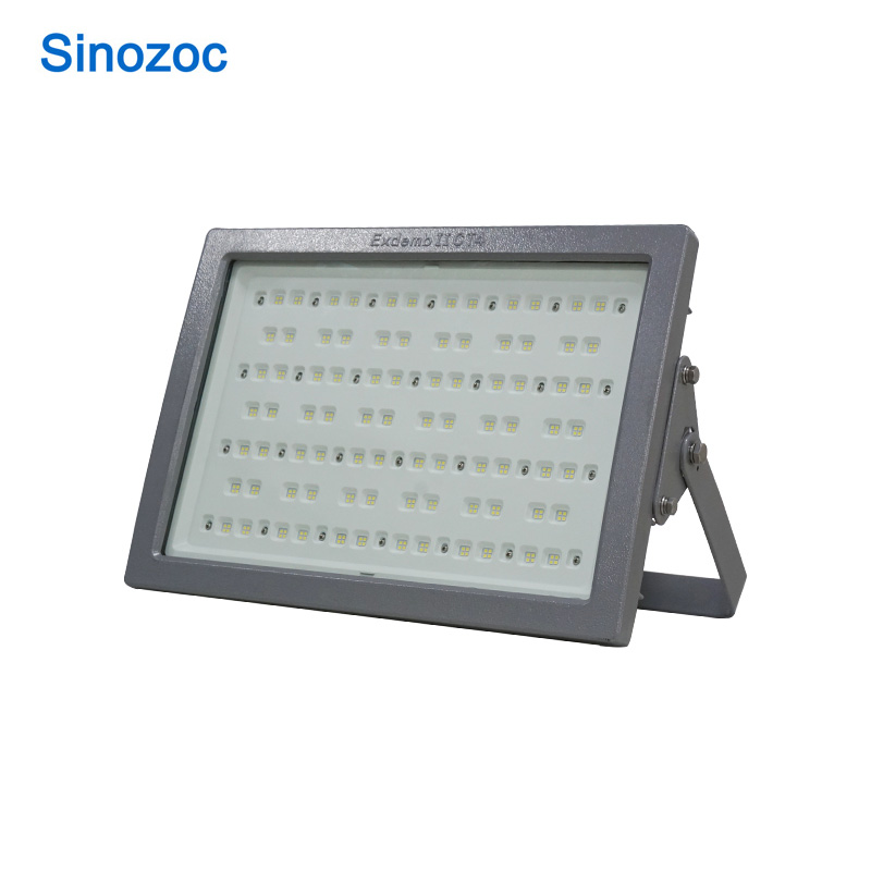 Sinozoc 50W 100W 150W 200W outdoor led lamp mounted ATEX led explosion proof flood light IP66 Waterproof