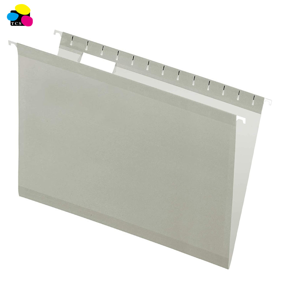 office supply 1/5 Cut 8 1/2in. x 14in Legal Size2-Tone Gray Hanging File Folders