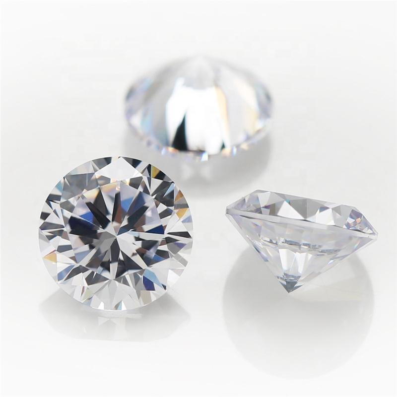 Wholesale high quality white diamond loose diamond 0.8-3mm round diamond moissanite