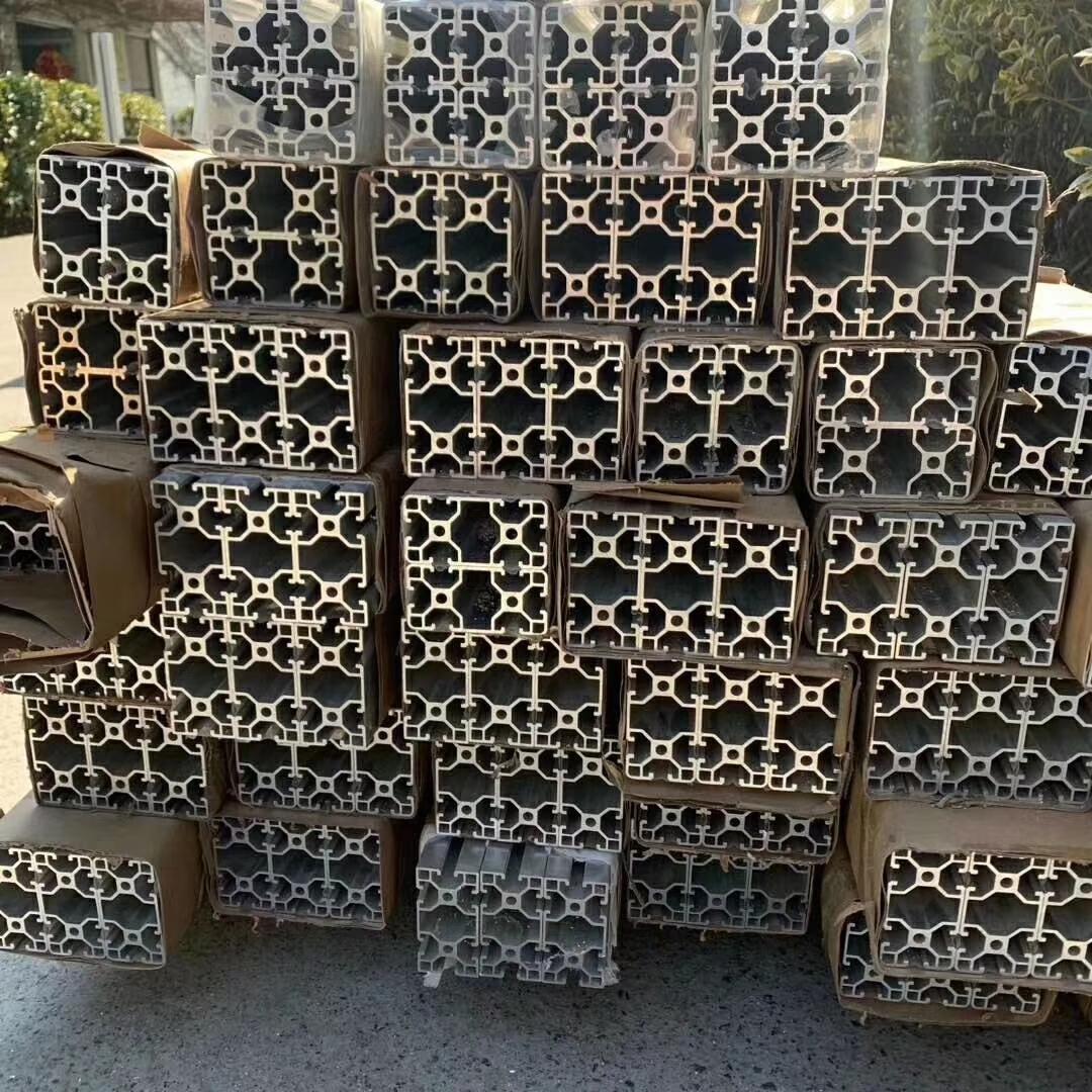 Алюминиевые профили для экструзии 2020 3030 4040 4080 T, V-образный слот 20x40 для рельсов, черная промышленная рамка под заказ, китайский поставщик
