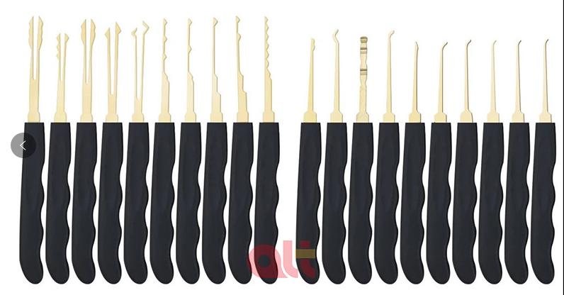 Оптовая продажа, набор из 24 штук, ГОСО слесарные принадлежности отмычки Инструменты замком с прозрачный тренировочный висячий замок слесарный инструмент взлом <strong><em><span style=