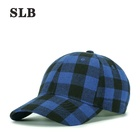 Sport New Winter And Spring Customized Logo Classic Checked 6 Panel Sport Baseball Cap