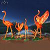 4 pcs red flamingo