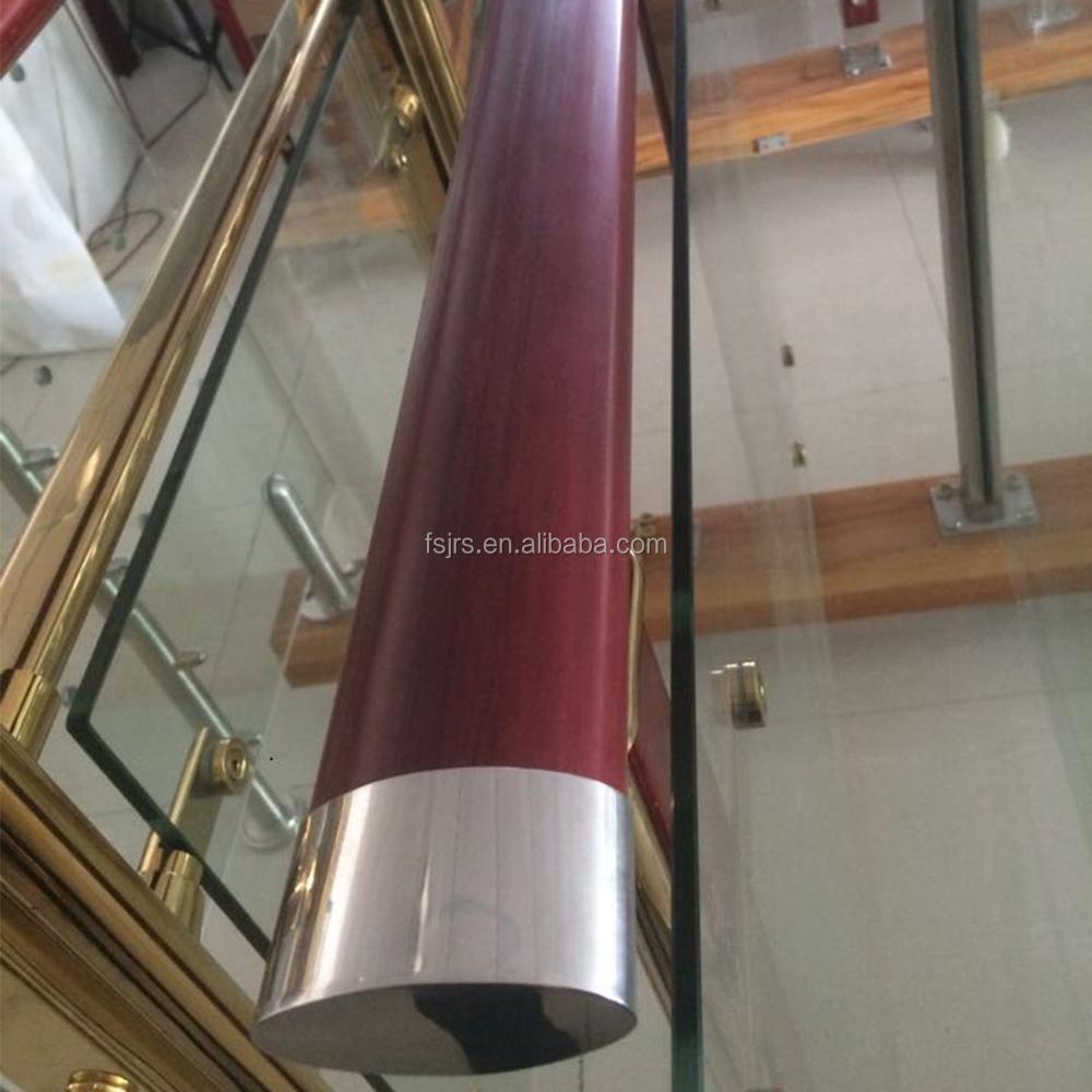 Внутренние легко гибкие Настенные Поручни из ПВХ, поручни из ПВХ, имитация деревянных поручней из ПВХ и пластика, поручни для лестницы