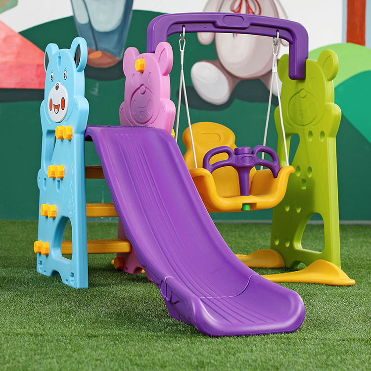 New Hot Selling Kids Indoor Slide With Swing Plastic Playground Set For Sale