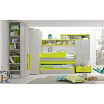 Customized kids bedroom set kids furnitures Wood Bed Room Furniture for Kids with chair wardrobe desk