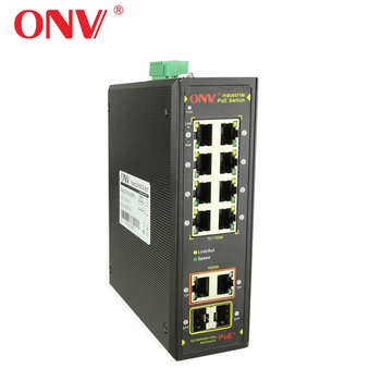 Industrial POE switch 8 Port Redundant DC 48-57v Non-managed ethernet switch with ethernet converter (ONV-IPS31108PFB)