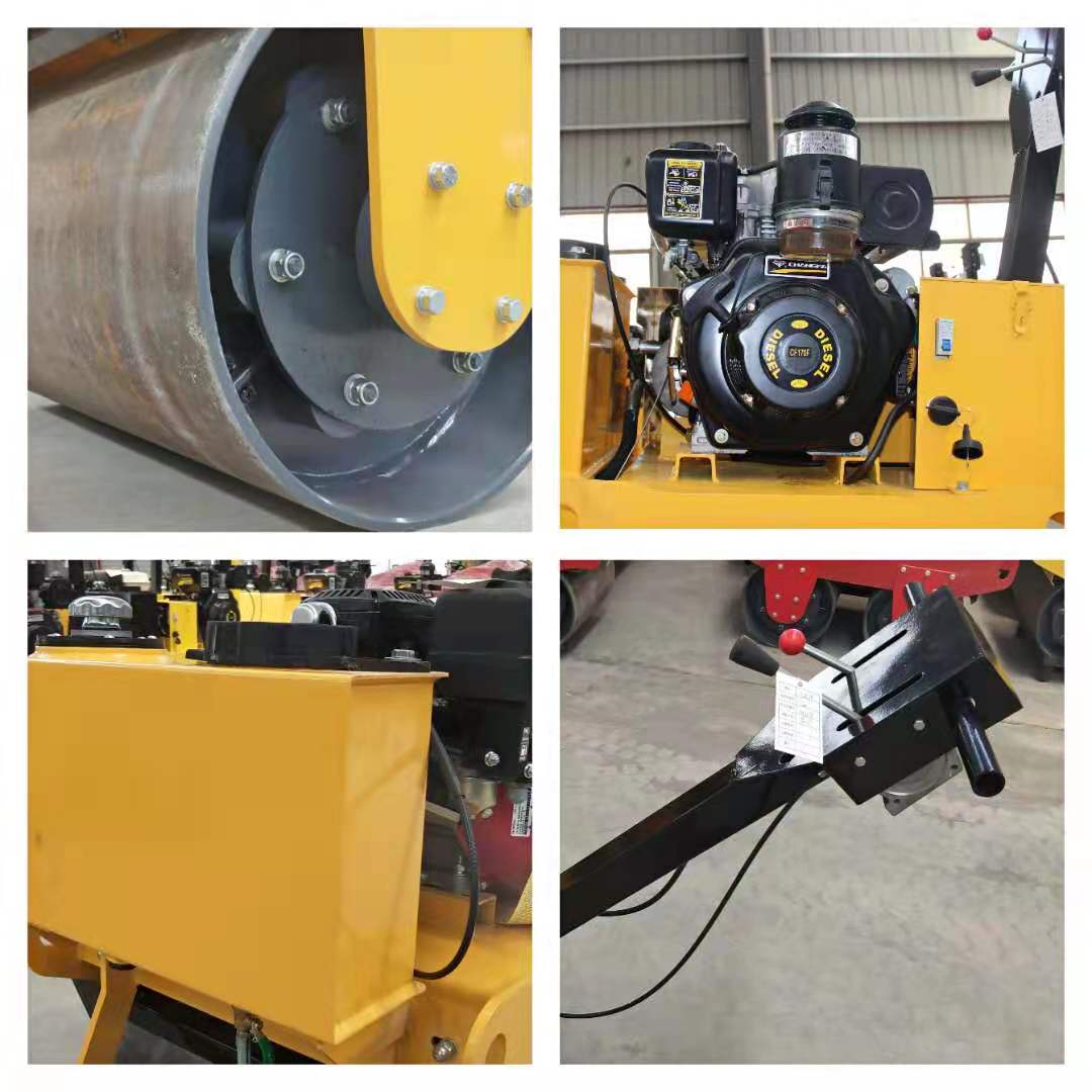 Hand held double road roller vibratory plate compacto mini road roller compactor