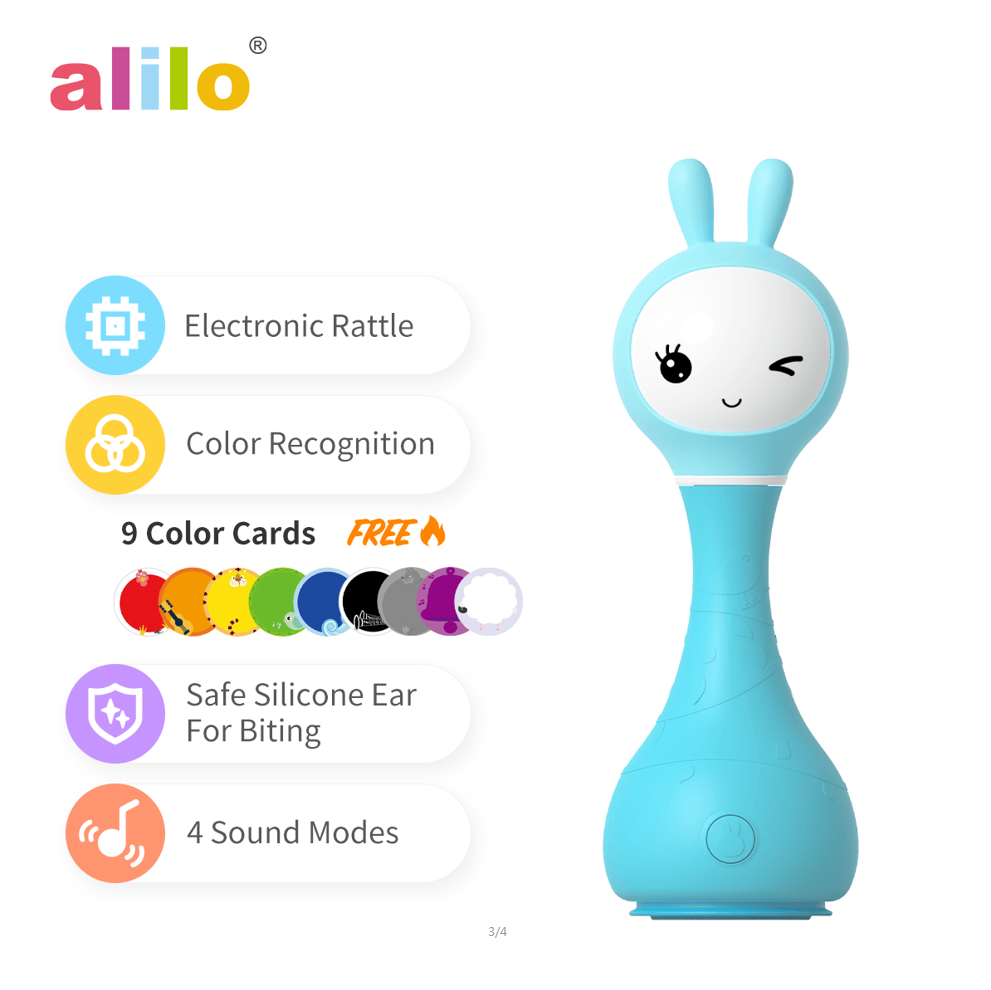 alilo Hot sell Lovely Alilo R1 Smarty Bunny Companion Music Toy Story telling Machine gift toys for kids