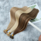 Hair Extensions Keratin Extensions Hair Top Quality 20 22 24 26 28 Inches Keratin Bonds Virgin Unprocessed Slavic Double Drawn Natural Russian Hair Extensions Sale
