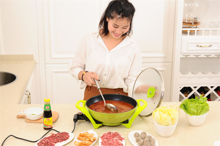 32cm Multifunction Non stick coating Round Electric frying Pan for cooking