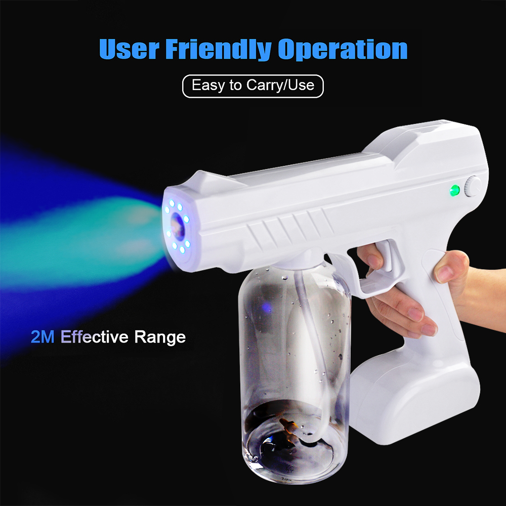 ULV Fogger Machine 800ml Cordless Electric Nano Ionic Sprayer Portable Ultra Low Atomizer Disinfection Sprayer