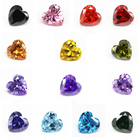 Heart Cubic Zirconia Heart Wholesale Heart White And Color Cubic Zirconia Synthetic Zirconia Naked Gemstone CZ Jewerly Inlay Strong Fire Bottom Tip Cut