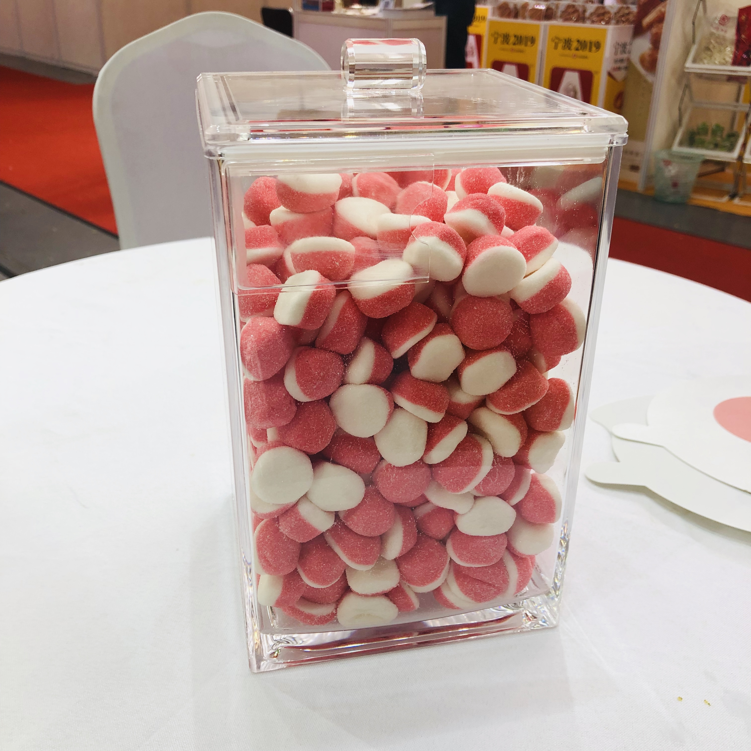 Ecobox clear bin hot selling sealed airtight sweet nuts powder food dispenser candy container bulk bin for shop