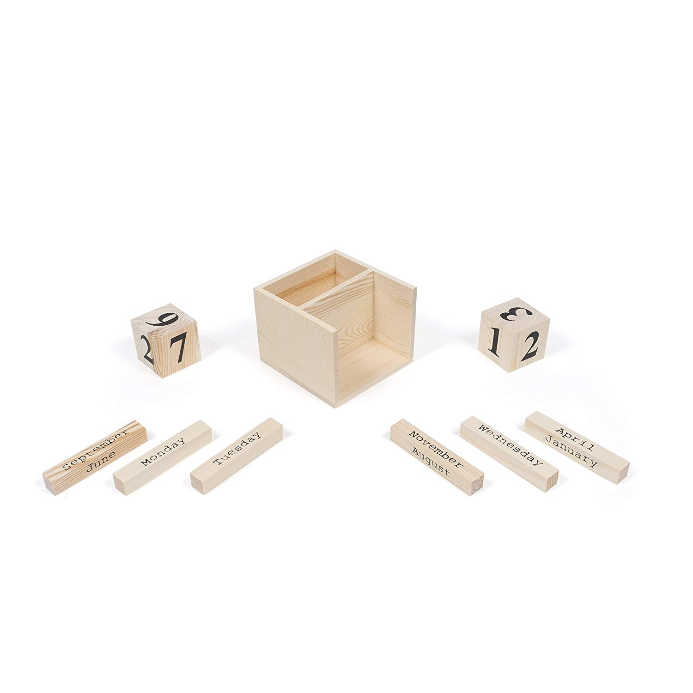 Украшение ручной работы английский офисный настольный мини-календарь с деревянными блоками