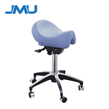 Dental Saddle Doctor Chair Dentist Stool PU Leather with Deluxe Foot-Controlled PU Leather