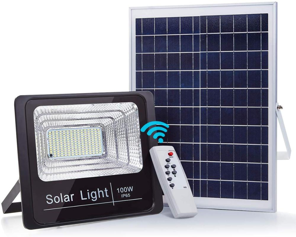 Hot sale 100W solar flood light, outdoor garden solar led light