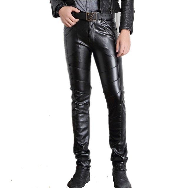 Pantalones Ajustados De Cuero Pu Para Hombre Pantalon Para Correr De Cintura Alta Color Negro Buy Pantalones Hip Hop Joggers Bolsillo Con Cremallera Product On Alibaba Com