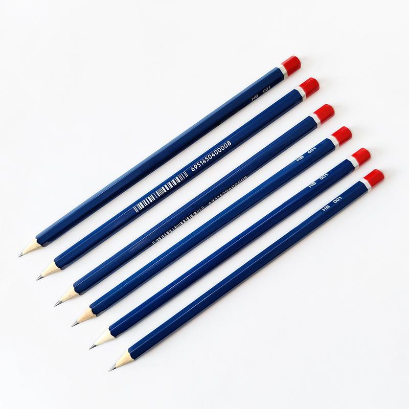 Хит продаж, набор деревянных карандашей HB под заказ с красной окантовкой для школы и офиса
