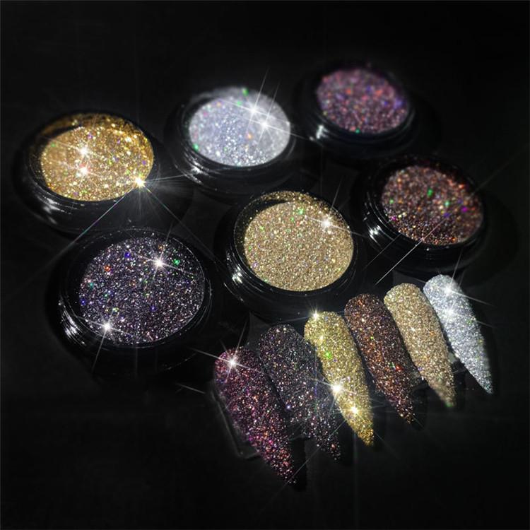2021 новая распродажа популярных украшений для дизайна ногтей, Алмазный блестящий порошок, блеск для дизайна ногтей
