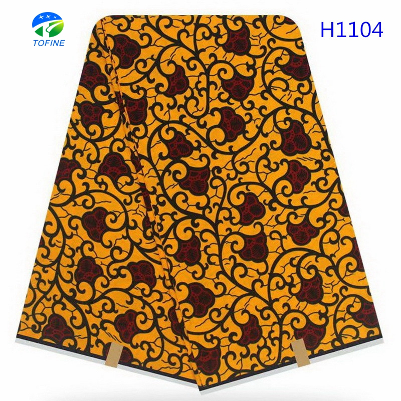 Top selling fashion nigeria holland wax fabrics cotton real wax holland 6 yards