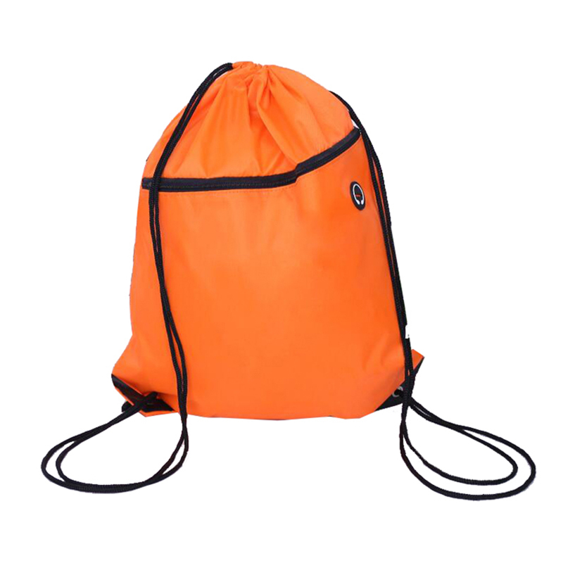 Sports drawstring gym bag Multicolor Reusable Waterproof lightweight Drawstring Backpack Bag With Zipper