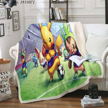 Флисовое одеяло с 3D принтом Покемон Пикачу для кроватей, толстое одеяло, модное покрывало, покрывало для взрослых, детей 03(Китай)