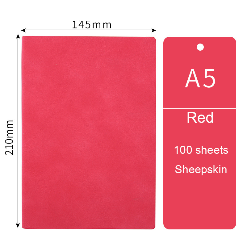 Блокнот формата А5 с мягкой кожаной обложкой, милый планировщик, ежедневник на 2020 неделю, ежедневник для путешественников, блокнот, записная...(Китай)
