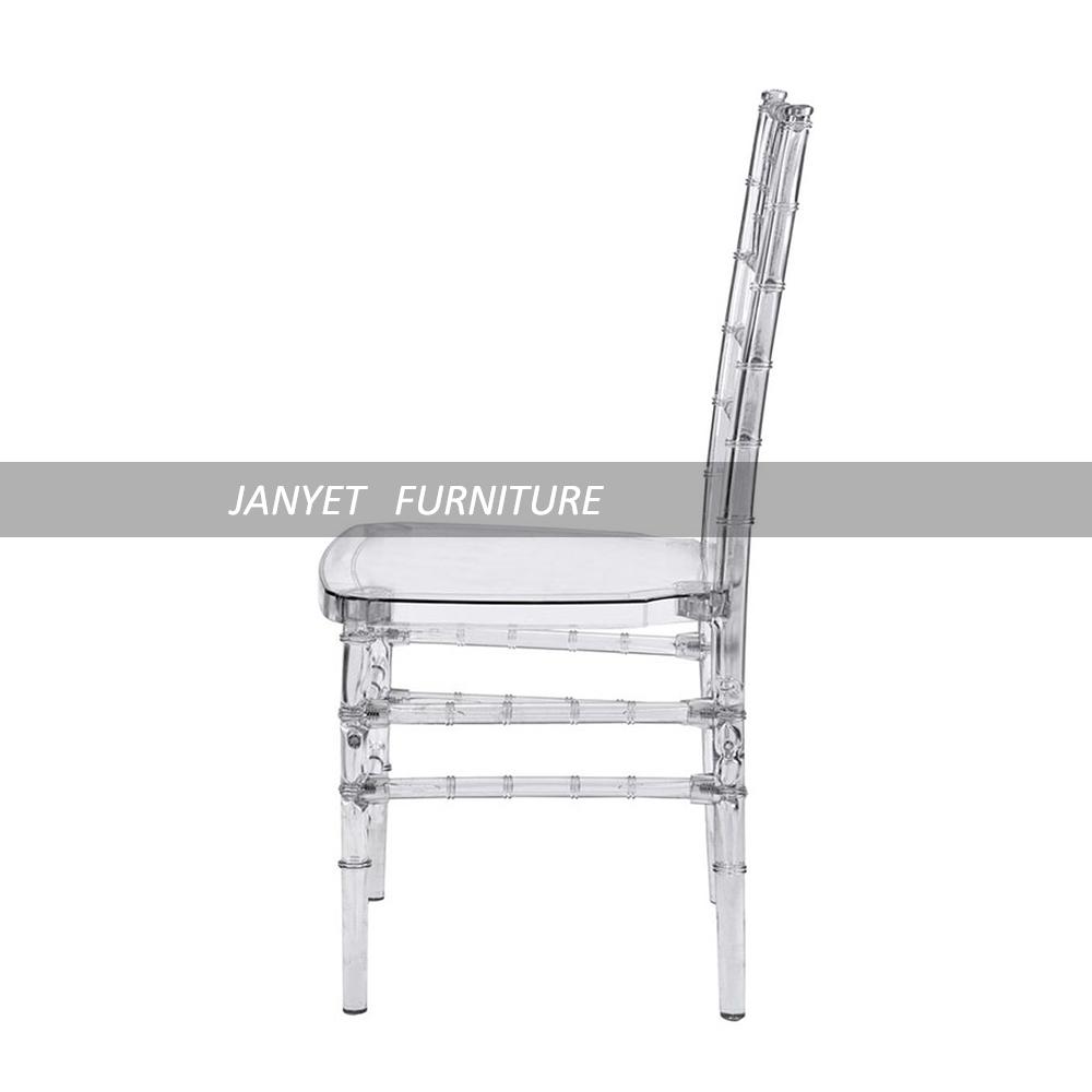 Factory Direct Cheap Clear Wedding Chair Acrylic Transparent Tiffany Chiavari with Cushion