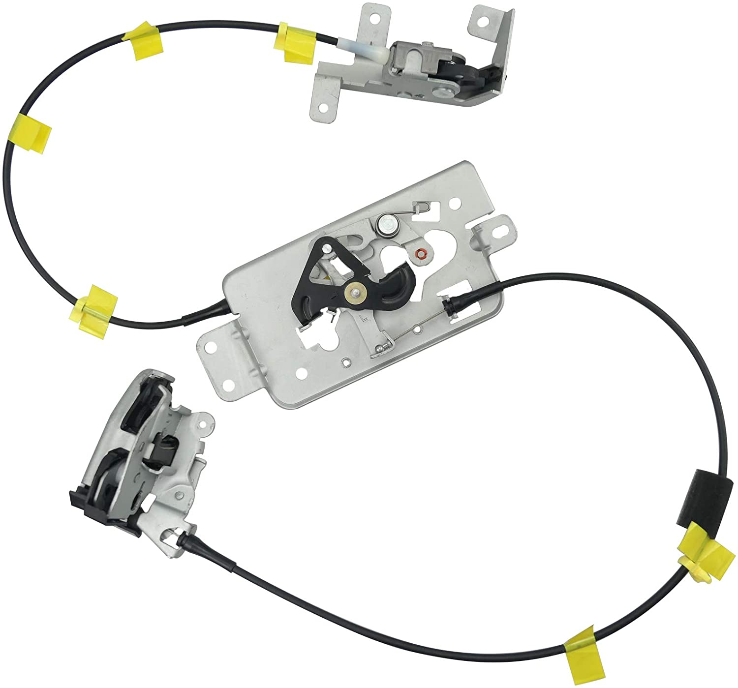 2004 -2008 Rear Left Driver Side Door Lock Latch with Cable For Ford F-150 Extended Cab Pickup Upper Lower Rear Side Latches Ass
